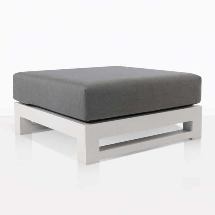 South Bay Aluminium - white ottoman