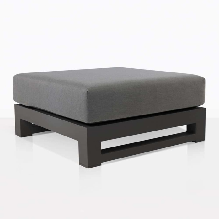 South Bay Aluminium in black - angle ottoman