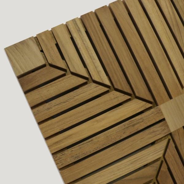 a-grade teak floor tiles corner