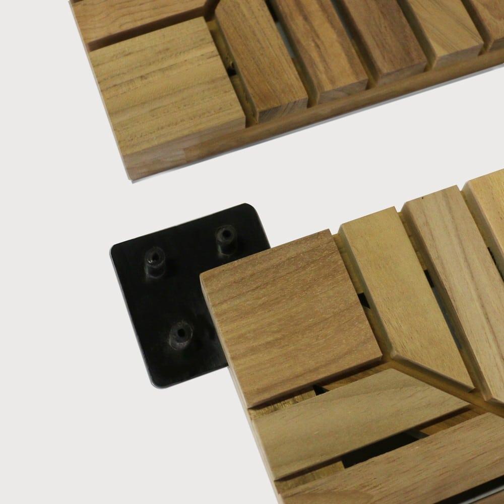 a-grade teak floor tiles connectors