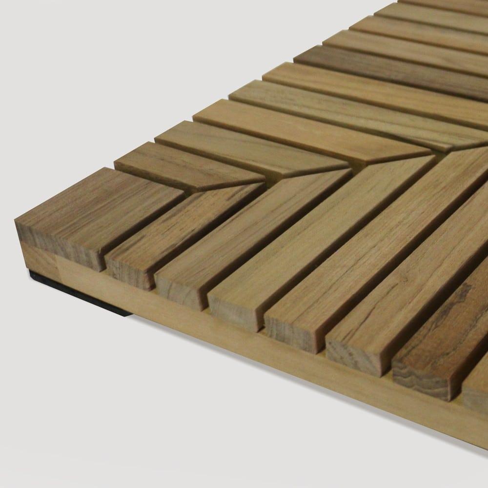 a-grade teak floor tiles corner view