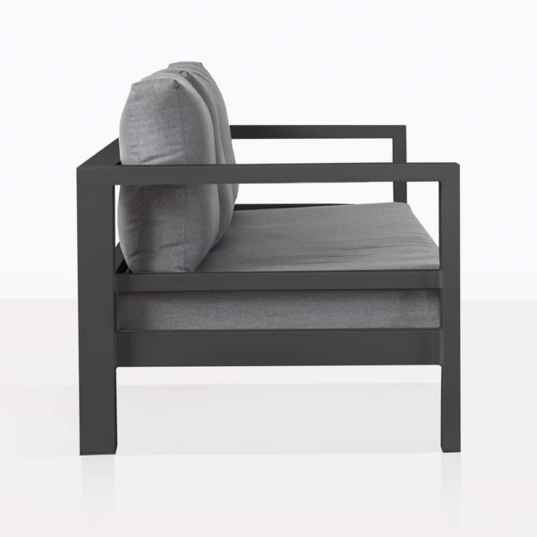 Amazon Black Aluminum Three Seat Sofa Side