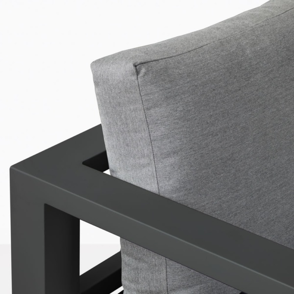 Amazon Black Aluminum Sofa Closeup