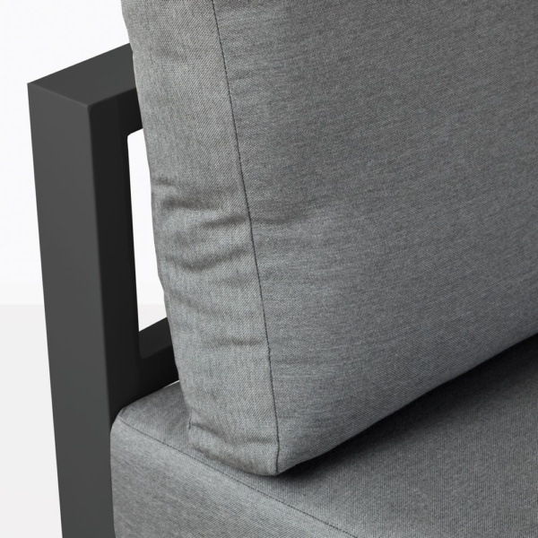 Amazon Black Aluminum Sofa Closeup With Cushions
