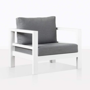 Amazon Aluminium White Club Chair With Cushion
