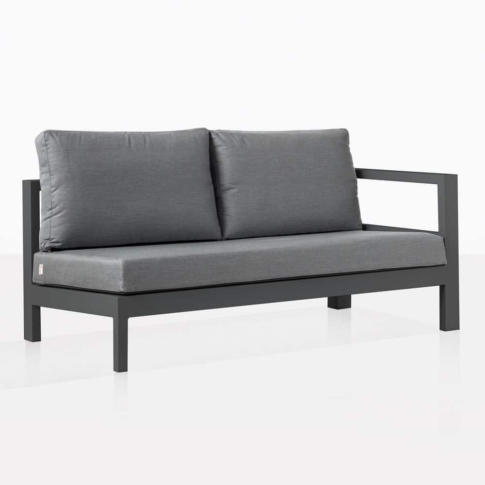 Amazon Charcoal Aluminium Outdoor Sectional Left Sofa ...