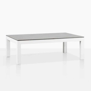 Amazon White Aluminium Coffee Table