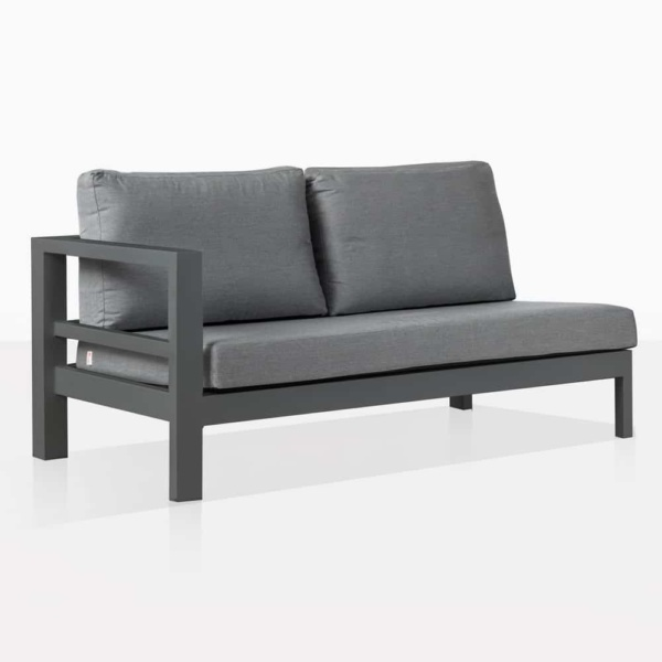 Amazon Black Aluminum Outdoor Left Arm Sectional