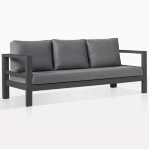 Amazon Black Aluminium Three Seat Sofa