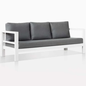 Amazon White Alumunum Outdoor Sofa