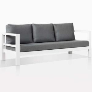 Amazon White Alumunum Outdoor Sofa