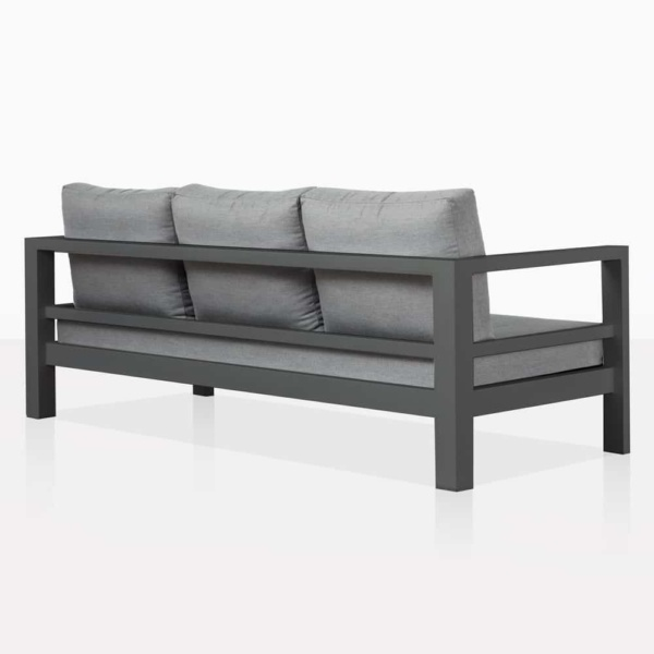 Amazon Black Aluminum Three Seat Sofa Back