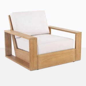 kuba outdoor teak club chair