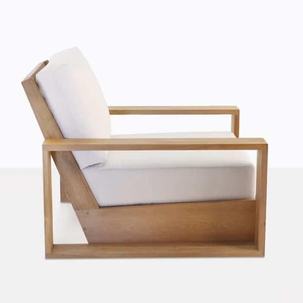 kuba outdoor teak club chair side view