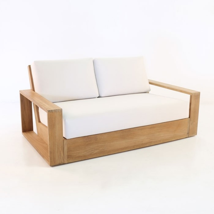 kuba outdoor teak loveseat