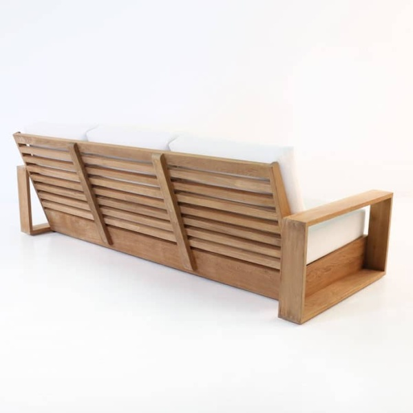 kuba outdoor teak sofa rear view