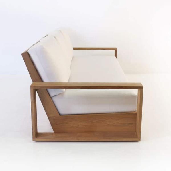 kuba outdoor teak sofa side view