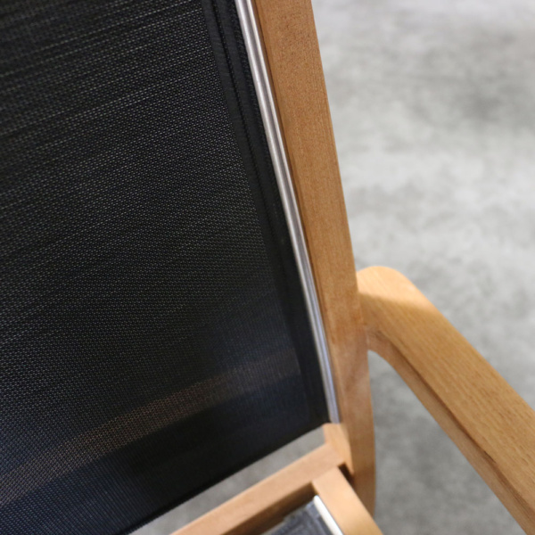tango black teak dining chair