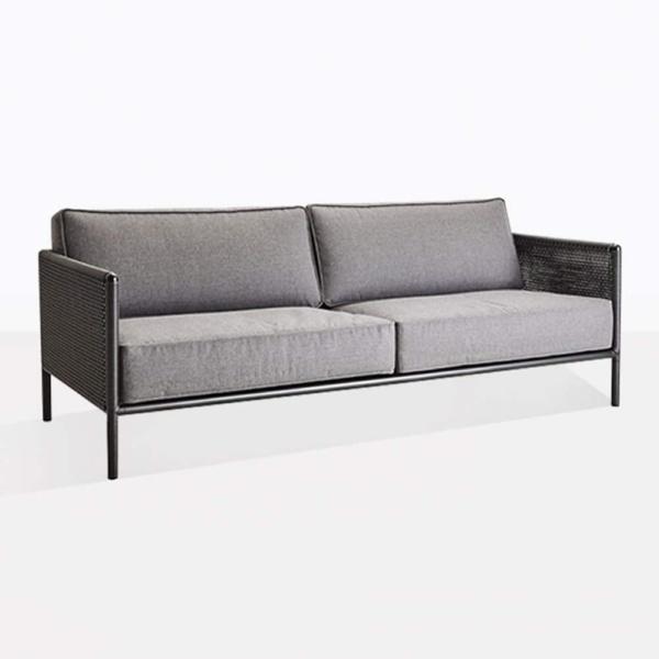 Bahama Wicker And Aluminum Outdoor Sofa