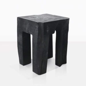 Banzi Teak Square Side Table Painted Black