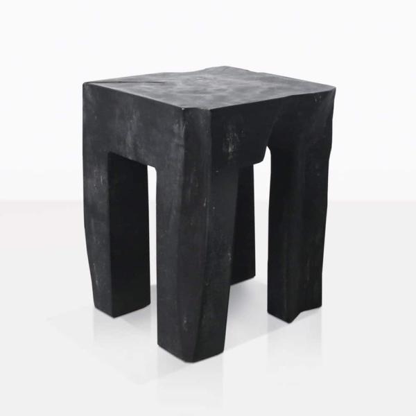 Banzi Teak Square Side Table Painted Black