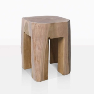 Banzi Raw Square Teak Side Table