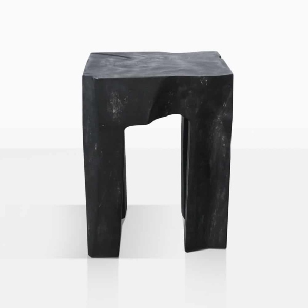 Banzi Teak Square Outdoor Side Table Painted Black