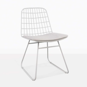 Caloco Outdoor Dining Chair white angle