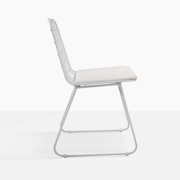 Caloco Outdoor Dining Chair white side