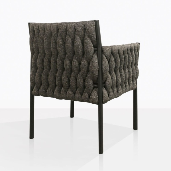 Calvino outdoor woven dining chair black back