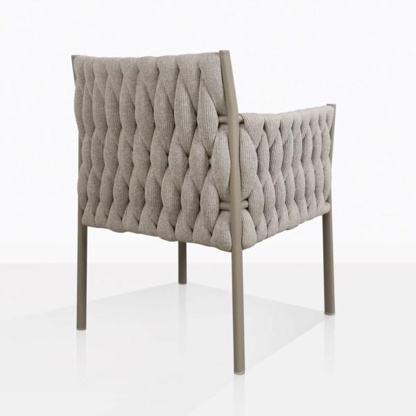 Calvino outdoor woven dining chair grey back