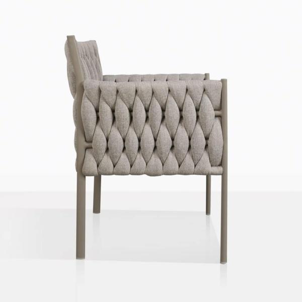 Calvino outdoor woven dining chair grey side