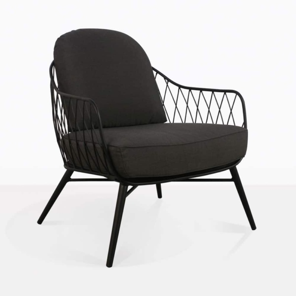 lincoln chair steel black cushions outdoor relaxing angle