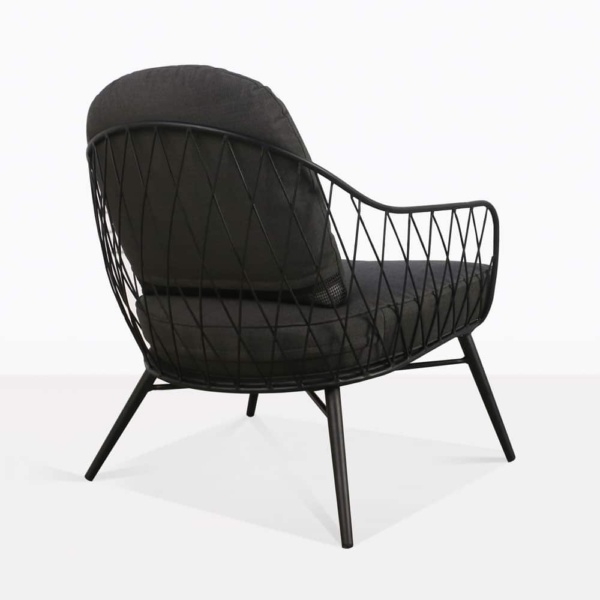 lincoln chair steel black cushions outdoor relaxing back