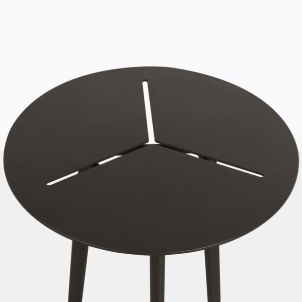 lona aluminum accent table closeup