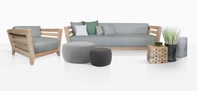 Adley Reclaimed Teak Sofa And Club Chair