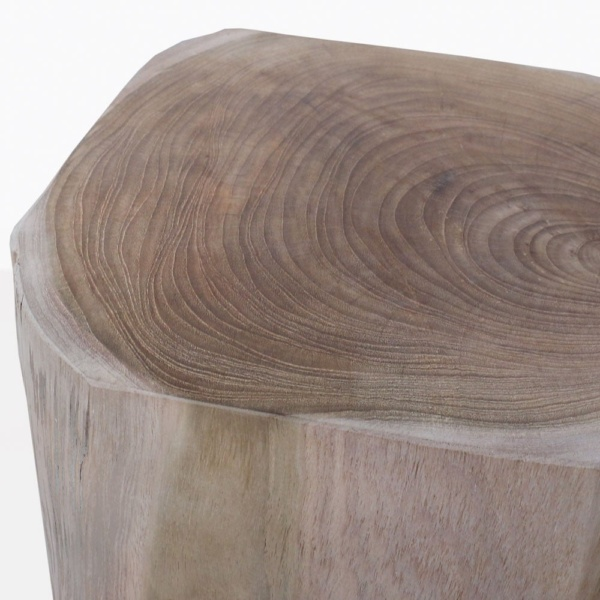 Banzi Teak Side Table Closeup