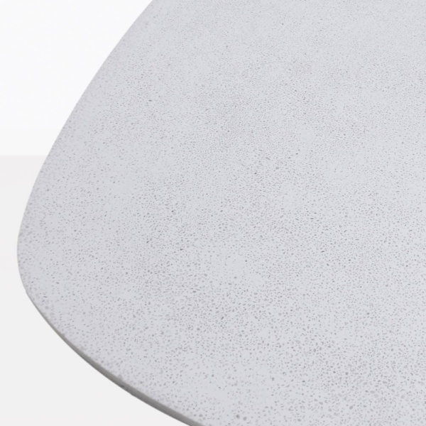 Buni Off White Fiber Stone Side Table Closeup