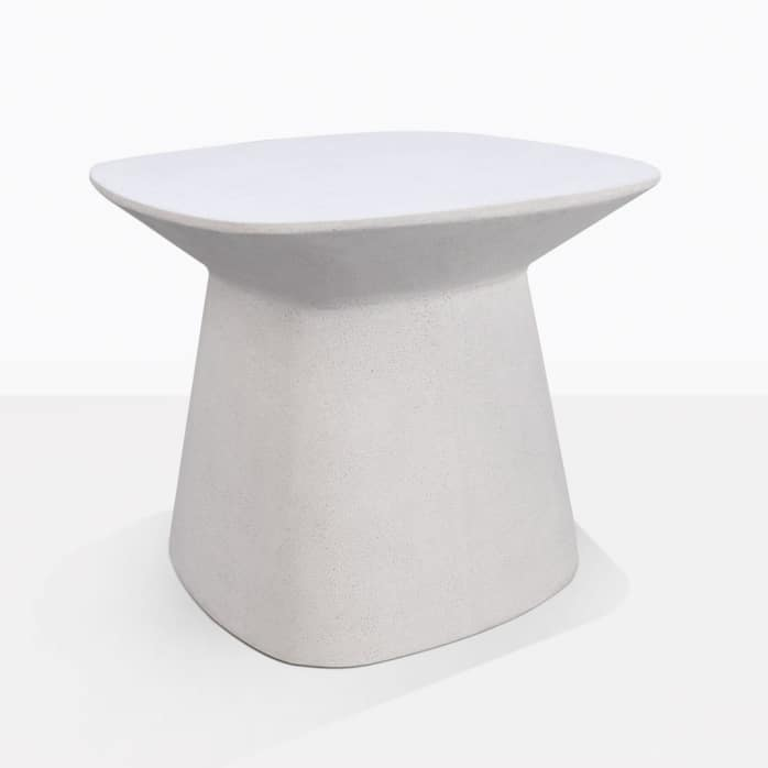Buni Off White Fiber Stone Outdoor Side Table