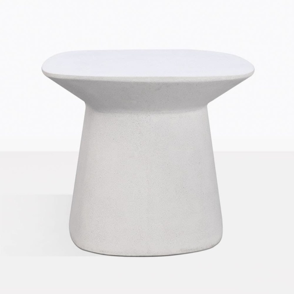 Buni Off White Fiber Stone Side Table