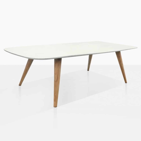 Natural Teak And Concrete Dining Table