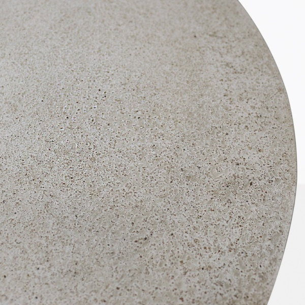 Orgain Round Concrete Dining Table Closeup