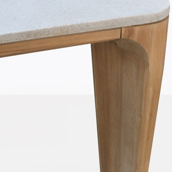 Parsley Teak And Concrete Dining Table Closeup