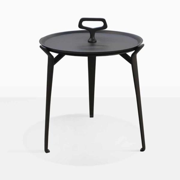 Peppi Three Leg Black Aluminum Side Table
