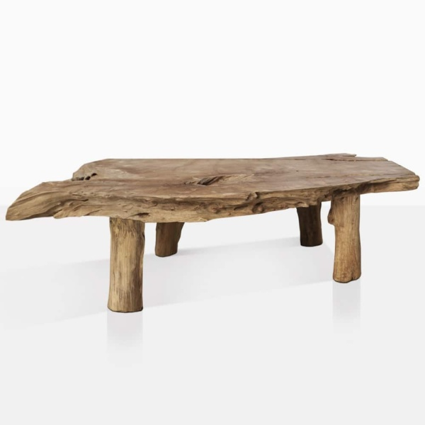 river teak root coffee table