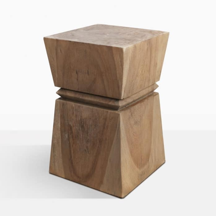 Rothko Carved Teak Wood Side Table