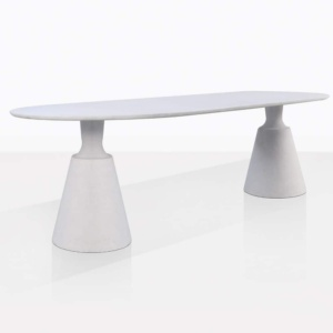 Vibe White Concrete Dining Table