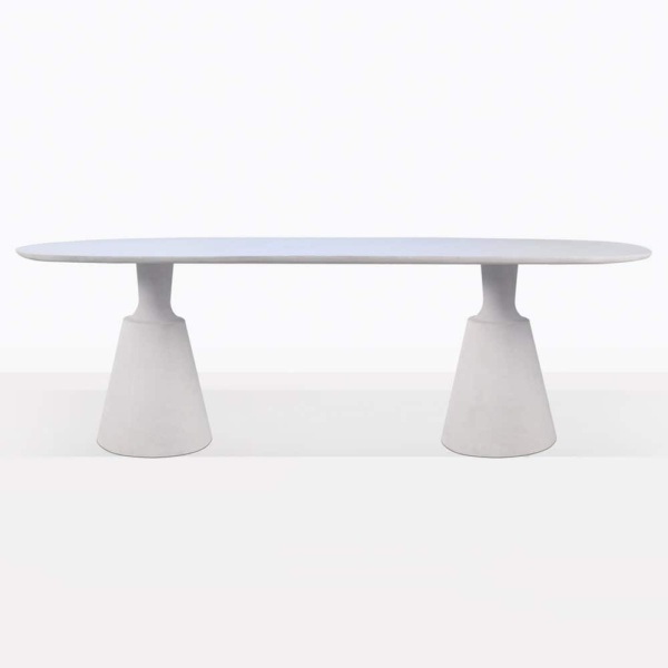 Vibe White Concrete Outdoor Dining Table