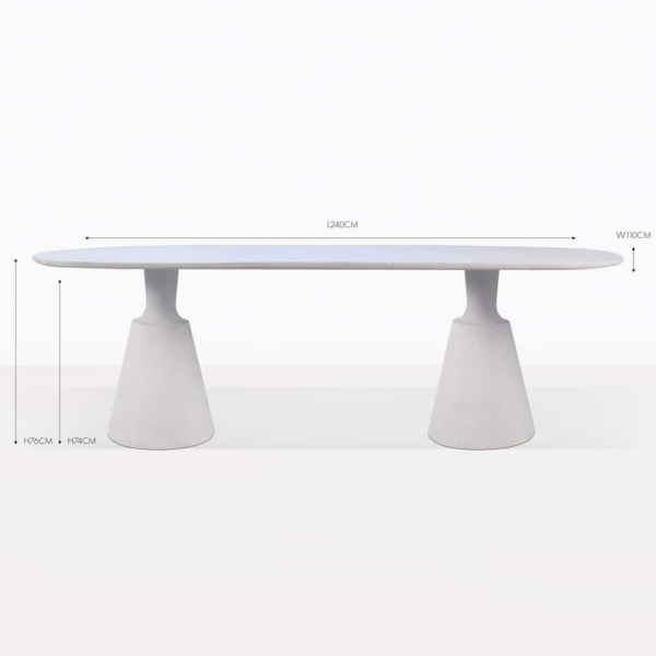 vibe concrete rectangular dining table