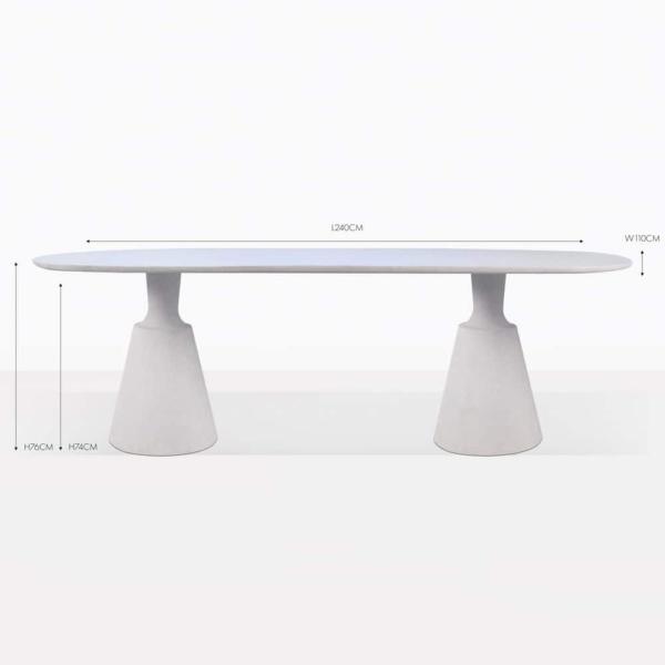 vibe concrete rectangular dining table